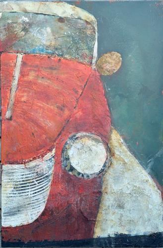 Magdalena Oppelt, Lady in red, Verkehr: Auto, Bewegung, Abstrakte Kunst