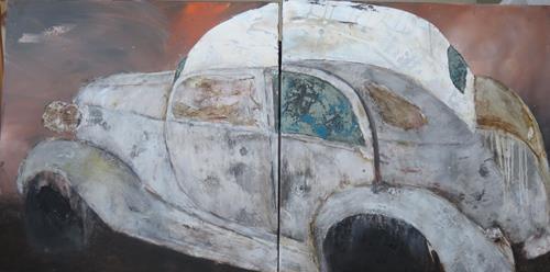Magdalena Oppelt, Dornröschen, Abstraktes, Verkehr: Auto, Art Déco, Expressionismus