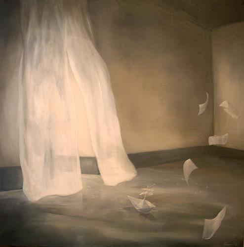 Claire Mesnil, The Journey, Fantasie, Skurril, Gegenwartskunst, Expressionismus