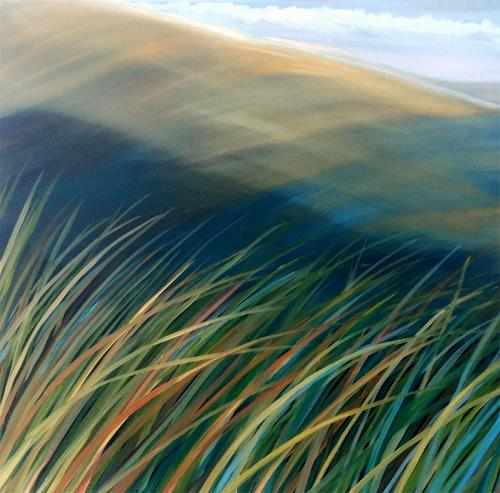Claire Mesnil, Seabreeze, Landschaft: See/Meer, Neue Figurative Malerei, Expressionismus