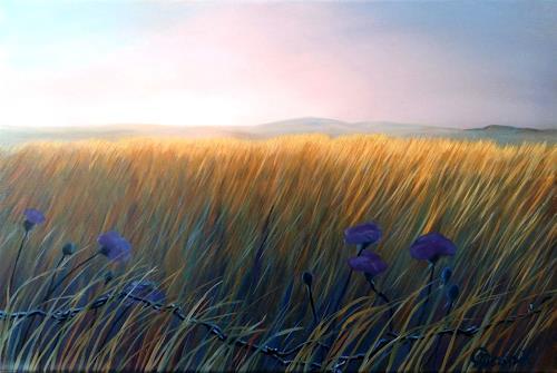 Claire Mesnil, Meadow, Diverse Landschaften, Natur: Diverse, Gegenwartskunst, Expressionismus