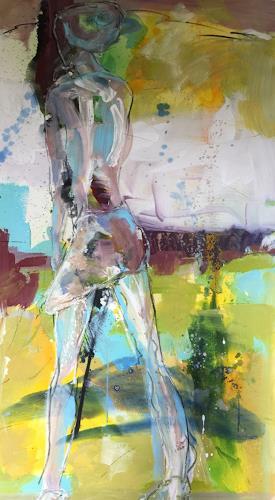 Monika Stein, Mädchen, Menschen, Abstrakte Kunst, Expressionismus