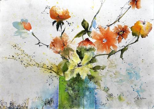 ALEX BECK, Blumenvariation, Pflanzen: Blumen, Fantasie, Gegenwartskunst