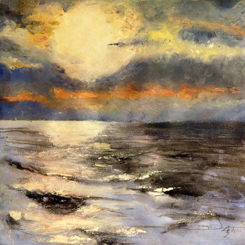 ALEX BECK, Sonne über dem Meer, Landschaft: See/Meer, Romantik, Realismus, Expressionismus