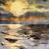 A. BECK, Sonne über dem Meer