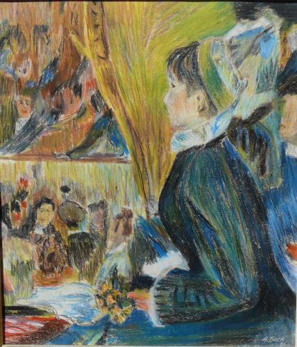 ALEX BECK, La premiére sortie, Menschen: Frau, Freizeit, Impressionismus