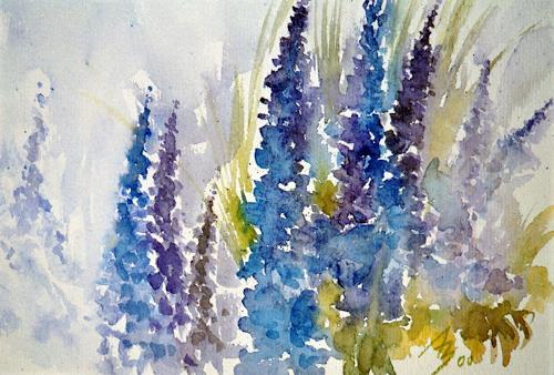 ALEX BECK, Rittersporn 1, Pflanzen: Blumen, Realismus