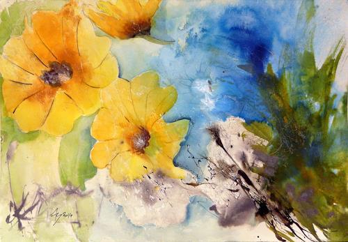 ALEX BECK, Bumenvariation, Pflanzen: Blumen, Moderne