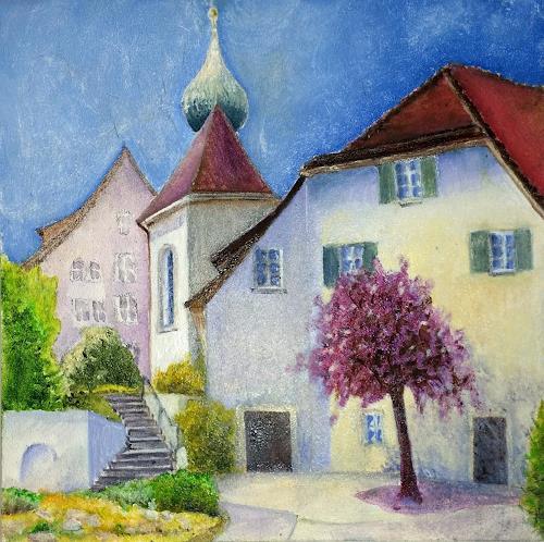 ALEX BECK, Klosterbezirk Gnadenthal Niederwil/AG, Landschaft, Bauten: Kirchen, Realismus