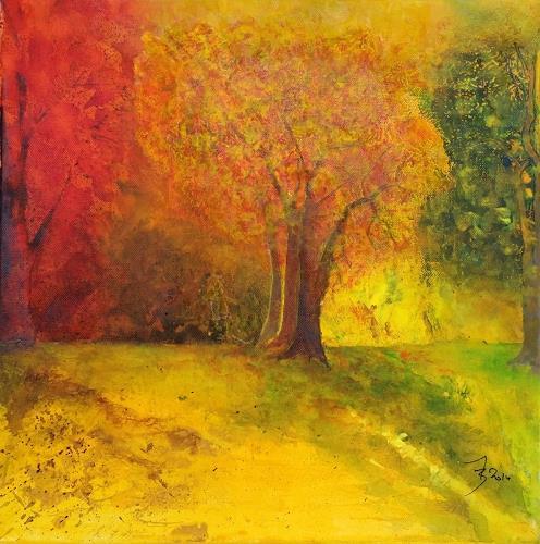 ALEX BECK, Autumn Touch,  Herbststimmung, Landschaft: Herbst, Gefühle: Geborgenheit, Naturalismus, Expressionismus