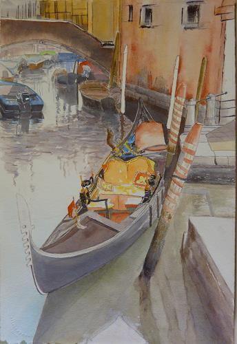 ALEX BECK, La Gondola, Landschaft: See/Meer, Situationen, Realismus