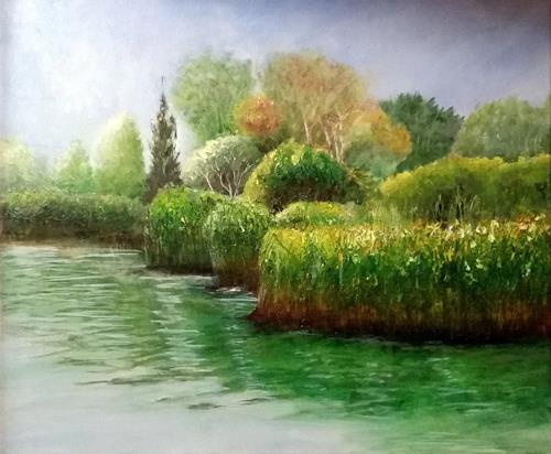 ALEX BECK, Das Paradies, Landschaft: See/Meer, Natur: Wasser, Realismus, Expressionismus