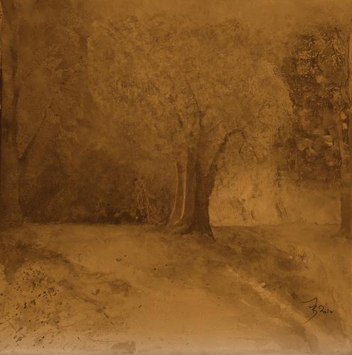 ALEX BECK, Herbststimmung, Landschaft: Herbst, Diverse Romantik, Naturalismus, Expressionismus