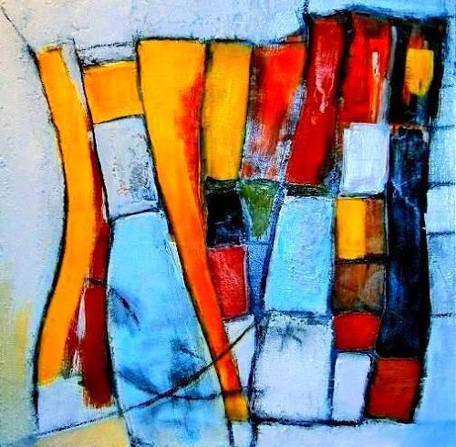 Marion Eßling, Stein an Stein, Abstraktes, Abstrakte Kunst, Abstrakter Expressionismus