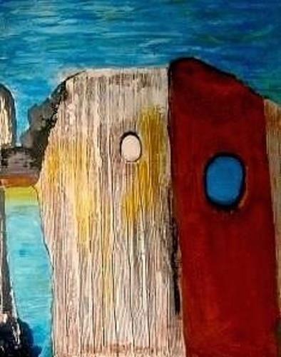 Marion Eßling, Buhnen, Natur, Landschaft: See/Meer, Gegenwartskunst, Expressionismus