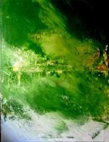 Marion Eßling, Am grünen See, Natur, Diverse Landschaften, Abstrakter Expressionismus