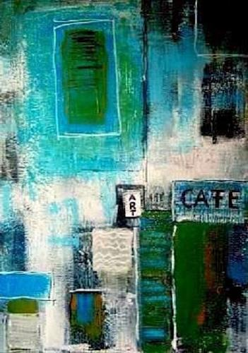 Marion Eßling, Art Cafe, Abstraktes, Bauten, Abstrakte Kunst