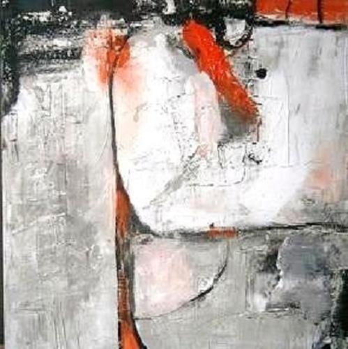 Marion Eßling, Schneemann, Abstraktes, Diverse Gefühle, Abstrakter Expressionismus