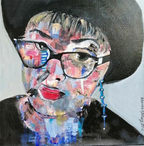 Marion Eßling, Hallo, ich bin´s, Menschen: Porträt, Menschen: Frau, Pop-Art, Abstrakter Expressionismus