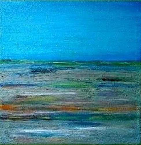 Marion Eßling, Colorful sea I, Landschaft: See/Meer, Abstrakter Expressionismus, Expressionismus