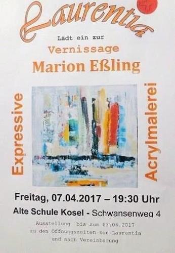 Marion Eßling, Vernissage, Diverses, Abstrakte Kunst