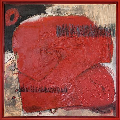 Marion Eßling, Kiss Me Red, Gefühle: Freude, Abstrakter Expressionismus
