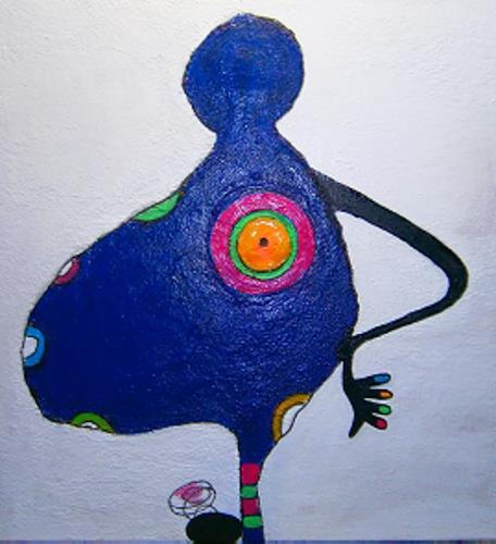 Marion Eßling, Ich freue mich auf dich!, Gefühle: Freude, Pop-Art, Abstrakter Expressionismus