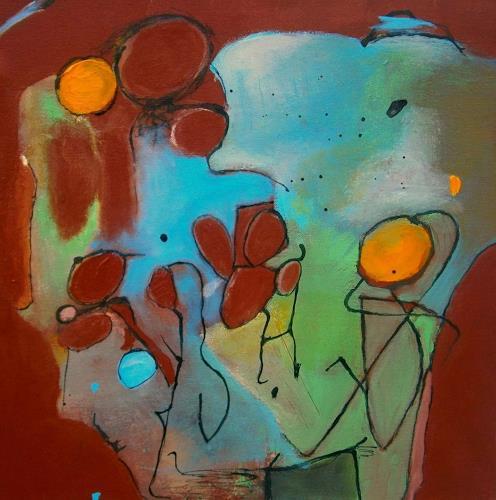 Marion Eßling, Losgelassen, Gefühle: Freude, Abstrakte Kunst, Expressionismus