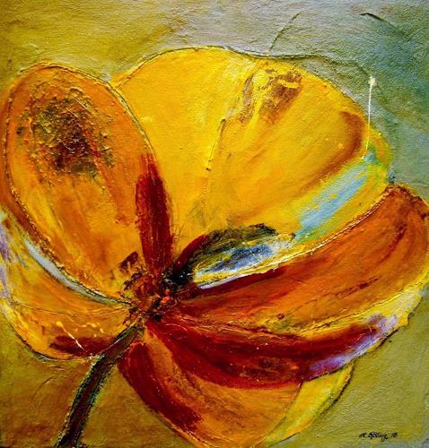 Marion Eßling, Sommer 2018 (2), Pflanzen: Blumen, Abstrakter Expressionismus