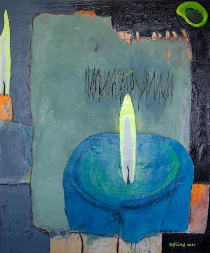 Marion Eßling, Nachtgedanken, Fantasie, Abstrakte Kunst, Expressionismus