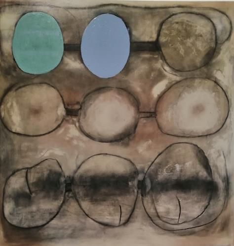 Marion Eßling, Doppelpunkt, Abstraktes, Abstrakte Kunst, Abstrakter Expressionismus