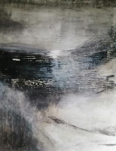 Marion Eßling, Mystische Klänge zur Nacht, Landschaft: See/Meer, Abstrakte Kunst