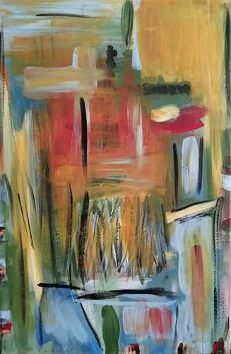 Marion Eßling, Urlaub auf Balkonien, Abstraktes, Abstrakte Kunst