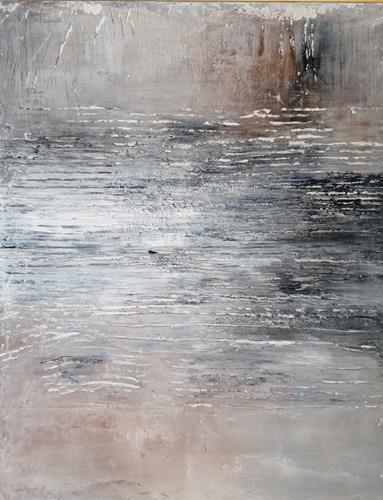 Marion Eßling, Mystische Klänge am Meer 2, Landschaft: See/Meer, Abstrakte Kunst, Expressionismus