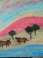 Melle-Tiere-Land-Landschaft