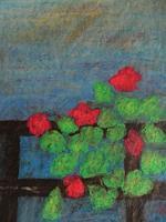 Melle-Pflanzen-Blumen-Landschaft-Fruehling-Moderne-Naive-Kunst