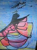 Melle-Fantasie-Abstraktes-Moderne-Expressionismus-Abstrakter-Expressionismus
