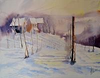 H. Amherd, Winter im Rebberg