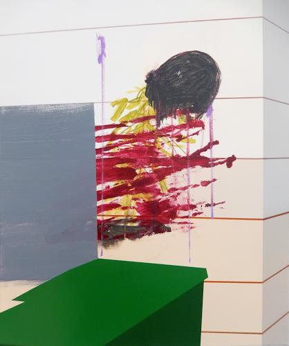 Monika Buchen, green stuff, Abstraktes, Architektur, Gegenwartskunst, Abstrakter Expressionismus