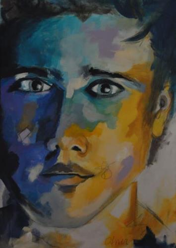 Barbara Ofner, Männer I, Menschen: Gesichter, Menschen: Porträt, Pop-Art
