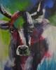 Barbara Ofner, Die Kuh, Tiere: Land, Diverse Tiere, Gegenwartskunst, Abstrakter Expressionismus