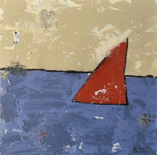 Barbara Ofner, Das Meer, Landschaft: See/Meer, Natur: Wasser, Abstrakte Kunst