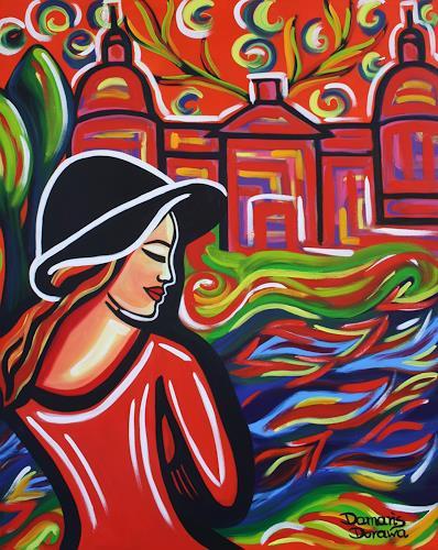 Damaris Dorawa, Red Castle, Menschen: Frau, Pop-Art