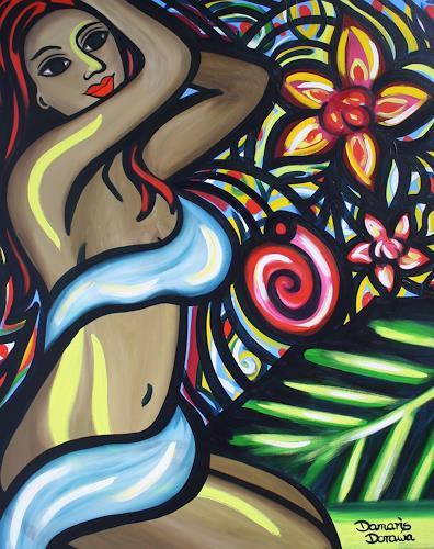 Damaris Dorawa, Caribbean Night, Menschen: Frau, Pop-Art