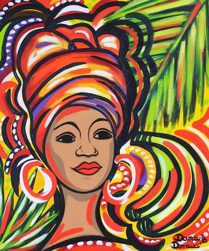 Damaris Dorawa, Lady of Zanzibar, Menschen: Gesichter, Pop-Art