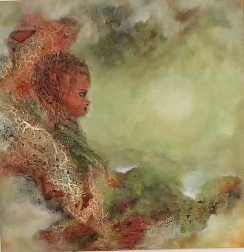 Oli (Olivia) Melly, Lichtnah, Landschaft, Abstrakter Expressionismus