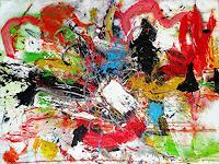 Vera-Komnig-Abstraktes-Abstraktes-Moderne-Abstrakte-Kunst-Action-Painting
