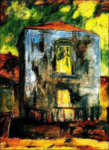 Udo Greiner, Villa Franka I, Bauten, Wohnen, Expressionismus, Abstrakter Expressionismus
