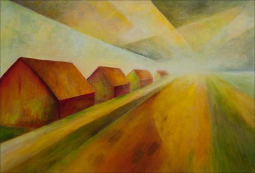 Udo Greiner, Oderbruch, Landschaft, Landschaft: Ebene, Moderne