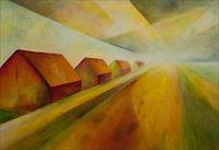 Udo-Greiner-Landschaft-Landschaft-Ebene-Moderne-Moderne